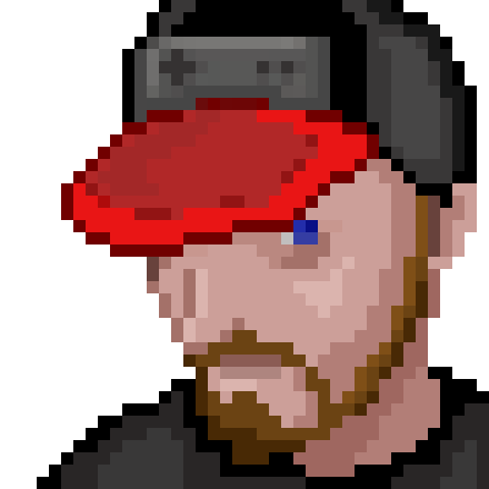 pixelated retro gamer avatar of Kai