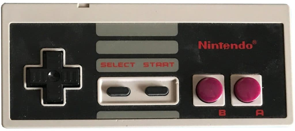 Gamboy style NES controller